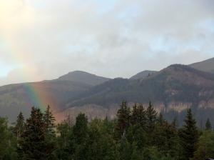 A beautiful rainbow a couple days before I left